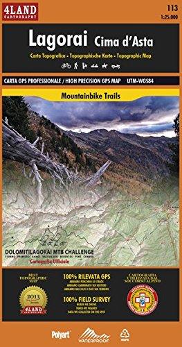 Lagorai-Cima d'Asta. Carta topografica. Ediz. italiana, inglese, tedesca par Enrico Casolari