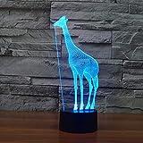 Kreative Giraffe Tischlampe Farbe Ersatz Tischlampe Lampe Neuheit Nachtlicht Lampe