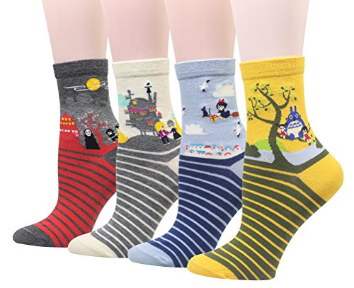 Cansok - Calcetines - para mujer multicolor Japanese Animation Talla única