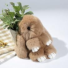 Cewaal Cute Conejo Suave Conejo de Piel de teléfono Colgante de Bolso Chica Anillo de la