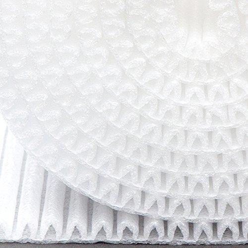 """Mondaplen Colour Wrap: ist keine Luftpolsterfolie, Noppenfolie, Blisterfolie oder Knallfolie aus Omas Zeiten. Schützen Sie empfindliche Teile stilvoll mit der 3,5 m Rolle dieser faltbaren, professionellen Schutzverpackung. Hergestellt aus Mondaplen, einem gewellten Polstermaterial für großartig aussehenden Schutz, der Luftpolsterfolie übertrifft. (Weiß) 3,5 m (11,5') x 45 cm (17,7"""")"""