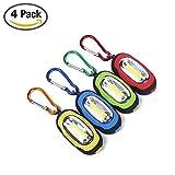 Ledeak 4 Satz Mini magnetische LED Keychain Taschenlampe,Outdoor COB Super Brightness 3 Modi Leuchten mit Karabiner,Beste Tools für Camping, Wandern, Jagd, Rucksackreisen, Angeln und Grill. (4 Stück)