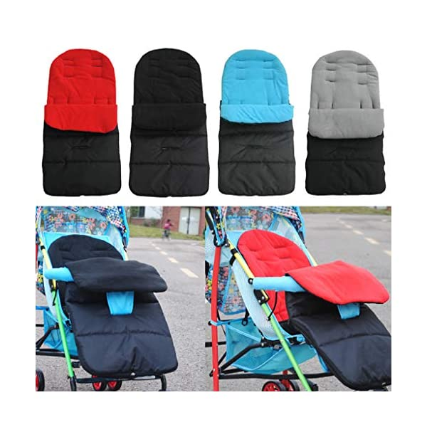 DENGHENG Multi-Function Baby Stroller Sleeping Bag Children Kids Trolley Thickened Swaddl DENGHENG ❤ Baby carriage sleeping bag, Multi-functional universal stroller sleeping bag. ❤ Made of high quality oxford and fleece, it is warm, windproof and waterproof. ❤ Removable, easy to clean, adjustable, adjust the position according to your baby's length. 2
