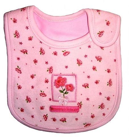 Baby Bib for Girl, Roses