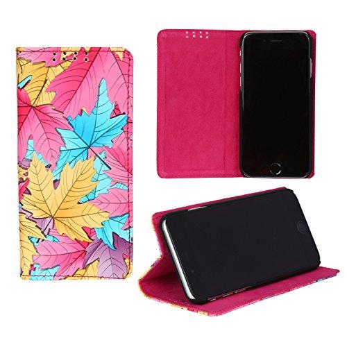 Dsas Artificial Leather Flip Cover for Lenovo Phab 2(BFC-Leaf-Pink)