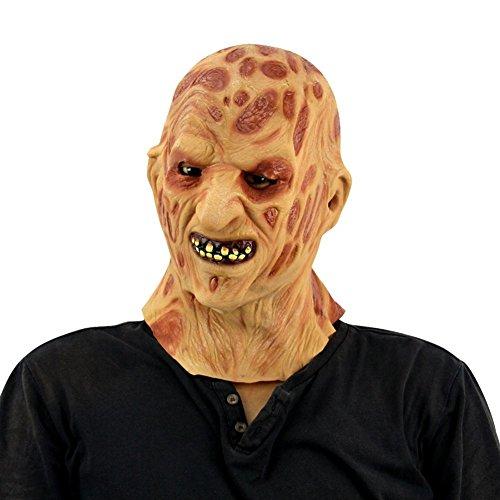 Fushkong Horror Clown Zombie Maske Halloween Party Kostüm