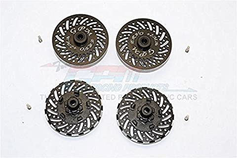Traxxas E-Revo Brushless Edition Upgrade Pièces Aluminium Wheel Hex Claw +2mm With Brake Disk - 4Pcs Set Black