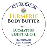 ATTIS Turmeric Body Butter with Eucalyptus Essential Oil | Vegan | with Aloe Vera | moisturiser | face cream | hand cream | natural | handmade | Anti Aging | Anti Wrinkle (100ml)
