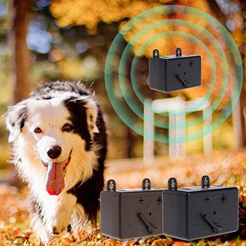 Yunso Ultraschall Anti Belling Geräte für Hunde,Ultraschall Bellen Stopper Spray Pet Repeller Aggressive Anti-Bark,Wasserdicht für Hund Haus, Park, Hof, Rasen und Bauernhof (Schwarz) -