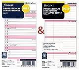 Filofax Kalendereinlage Set Personal: Professional Eine Woche auf zwei Seiten und Jahresplaner 2019