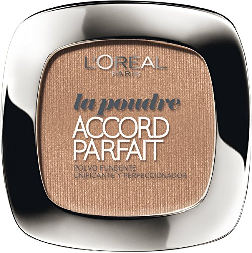 L'Oreal Paris Accord Perfect Polvo Compacto, Tono: Cannelle D7