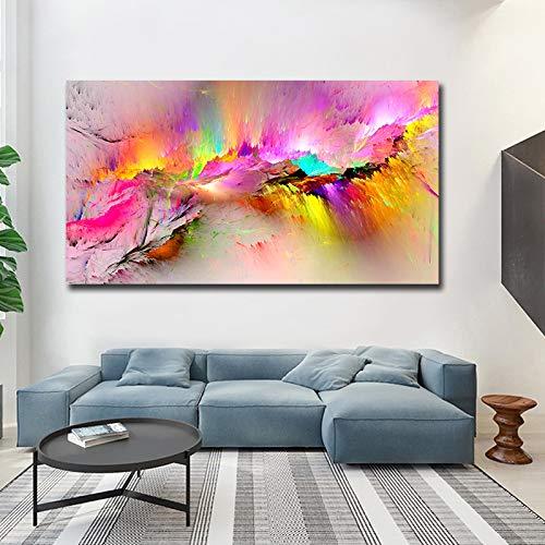 RTCKF Pittura a Olio Legno Paesaggio Arte Pappagallo Uccello sul Ramo Tela Poster Stampa Foto Parete per Decorazione Soggiorno (Senza Cornice) A5 60x120 cm