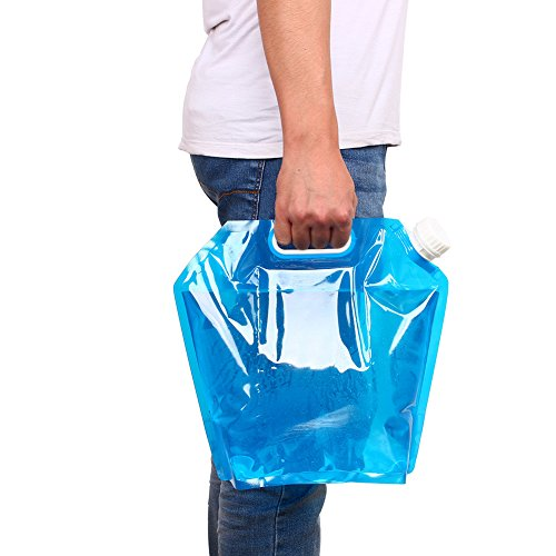 5L / 10L im Freien faltbare Falte Trinkwasser Tasche Auto Wasser Blaue Farbe