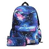 Artone Unisex Nylon Sternenklar Galaxis Universum Rucksack mit Laptop-Fach Passen 15
