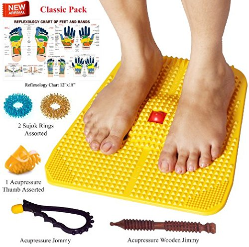 Super India Store Acupressure Power Mat with Magnets n Pyramids for Pain Relief and Total Health (Premium -II)