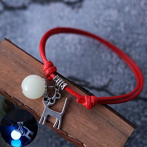 YCYLYZ Paare EIN Paar leuchtende Armbänder Männer und Frauen leuchtende Schmuck Senji Stil und koreanische Studenten Geschenke Damen Klassiker, 21