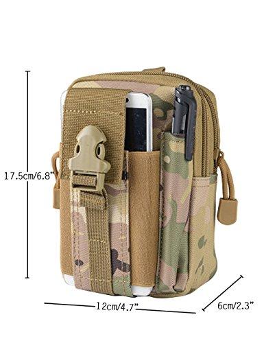 CUKKE Nylon Gürteltasche Outdoor Sport Hüfttasche Doggy Tasche Sportstasche Gürtellinie Waist Tasche Hip Pack für Wandern Laufen Radfahren Camping Reise Klettern Tarnung 3 Tarnung 1
