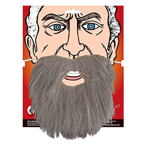 Grau Bart Zubehör für Piraten Jesus Muslimisch Kostüm