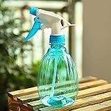 GerTong Leere Sprühflasche für Blumen gießen Salon Desinfektion, 500 ml Kunststoff-Presse Typ Pflanze Bewässerung Sprinkler Kann für Hausgarten-Hotel (blau)