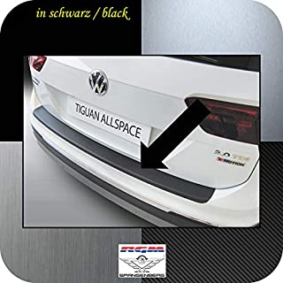 Richard Grant Mouldings Ltd. Original RGM Boot Sill Protector Black for Volkswagen VW Tiguan II Allspace 4x4 SUV from 04/2017 Onwards RBP751
