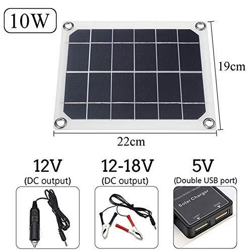Especificación:Salida USB: 5VCantidad de puerto USB: DobleVoltaje del panel solar: DC12-18VMaterial: Polisilicio de silicio celular.Energía del panel solar: 10/15/20 / 15WAdecuado para: Ciclismo, Escalada, Senderismo, Camping, Viajes, etc.Clip ...