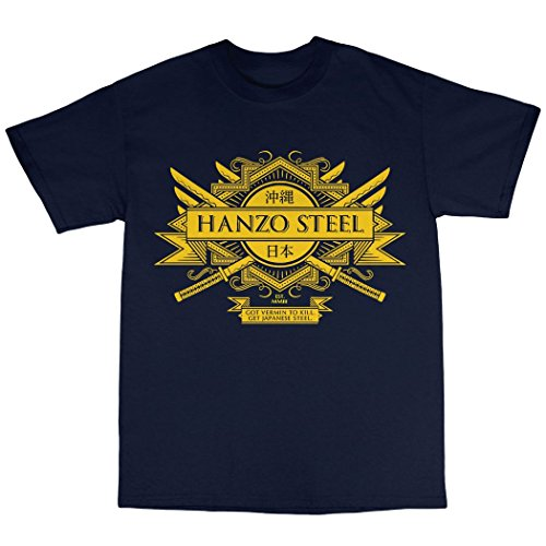 Hanzo Steel T-Shirt 100% Baumwolle Marineblau