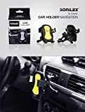 Sonilex Mobile Holder - Yellow (360 degree rotation) for Car Windshield/ Dashboard/ Home/ Desk Cradle with High Suction For Mobile Phones/ Smart Phones/ Tab with complementary RedClub Pen