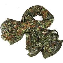 86d6132d5e6c Tactique Camouflage Armée Maille Écharpe Respirable Wrap Masque Conceal Camo  Sniper Voile pour Chasse Militaire Wargame