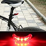 #4: Best Rear Lights for Cycling UFO Laser Tail Light Waterproof 5 LED Bike Light- Red