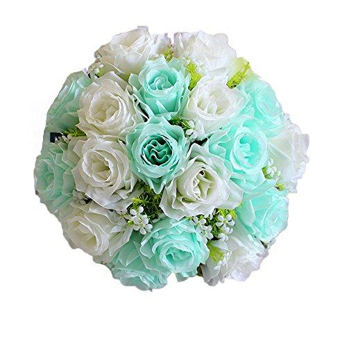 Unechte Blumen Piebo Künstliche Deko Blumen Gefälschte Blumen Plastik Kunstblumen Braut Hortensie Dekor Hochzeitsblumenstrauß für Haus Garten Party Blumenschmuck Wohnaccessoires Deko