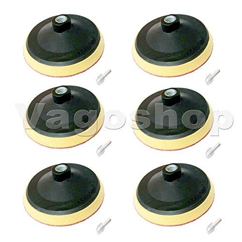 10 x Stützteller 125mm Schleifteller Klett Spanndorn M14 Polierteller Klettteller für Poliermaschinen