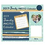 Tallon 2019Photo de famille Calendrier Photo avec poche et carnet de notes Bleu à rayures