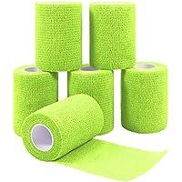QiGui 6 Rollen Selbsthaftende Cohesive Bandage Haftbandage Verband Fixierverband elastische Binde Pflasterverband... preisvergleich bei billige-tabletten.eu
