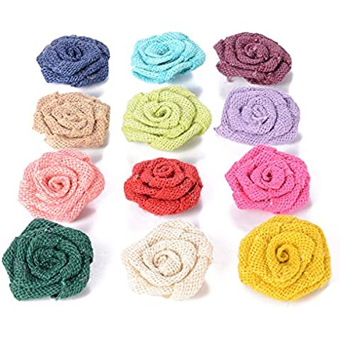 advantez 12pezzi 2.4iuta rosa fiori per matrimoni