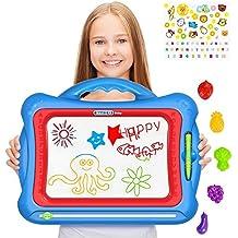 GP- NextX Tavoletta Magnetica da Disegno per Bambini - Tavola Cancellabile Colorata Giocattolo per Bambini, Pad da Schizzi e Scrittura - Set Regalo con 5 Stampe Disegno e Adesivi