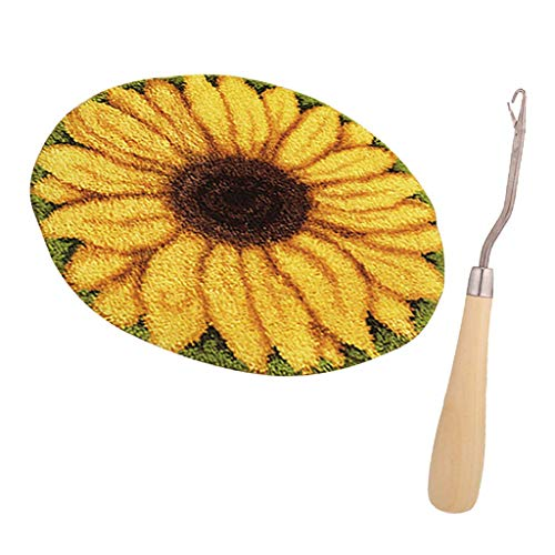 Tubayia Sonnenblumen Knüpfteppich Formteppich Knüpfen Teppich Latch Hook Kit für DIY Handwerk -
