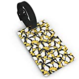 Luggage Tags with Tux The Linux Penguin Printing ID Lable Baaggage Hanbdag Id Tag