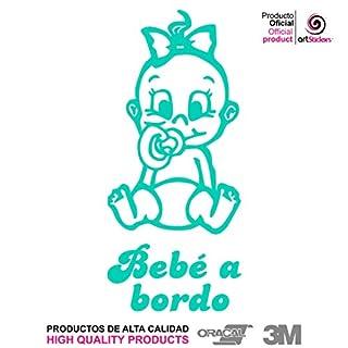 Artstickers® Baby Aufkleber Bord Mädchen Nena – Babyfun Sammlerstück 10 Farben zur Auswahl + Geschenk