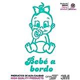 Artstickers® - Adesivo Bebè a bordo da bimba,collezione Babyfun, 10colori a scelta + regalo sorpresa 9cm x 16,5 cm
