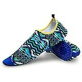 McGrath Chaussure de Plage Femme Homme Sport pour Piscine Mer Plonger Surf Natation Gym Yoga Respirants Séchage Rapide Bleu 38-39