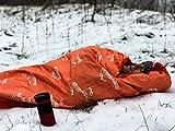Emergencia tienda de campaña (mejor supervivencia saco de dormir para Aventura Al Aire Libre Senderismo y walking-thermal aislamiento y brillante naranja reflectante exterior- Heavy Duty y reusable- la aventura almacén Ltd