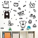XCGZ Wandsticker Kleidung, Schuhe, Socken, Fenster, Glastür, Aufkleber, Baby, Baby-Shop, Fenster, Wandaufkleber