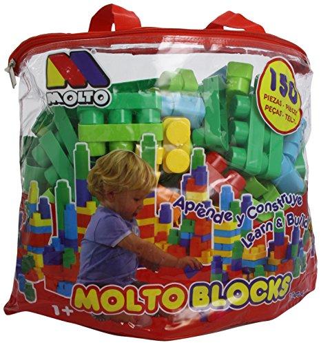 Molto - Bolsa de bloques, 150 piezas (12464)