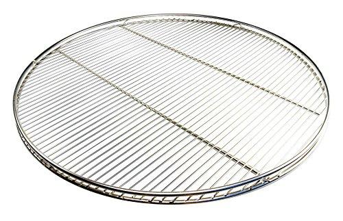 Aktiona Grille pour barbecue suspendu solide et résistante avec 6 crochets de suspension et double contour en acier inoxydable massif V4A 8 mm Ø 80 cm