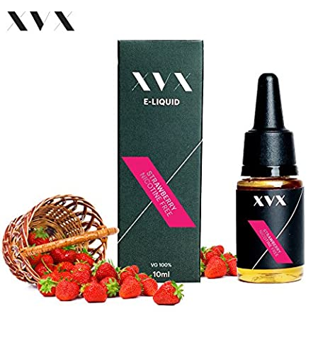 XVX E Liquid \ Strawberry VG Flavour \ Electronic Liquid For E Cigarette \ Electronic Shisha Liquid \ 10ml Bottle \ Needle Tip \ Precision Pouring \ Choose Your Lifestyle \ New For 2016 \ Digital Smoke \ Nicotine Free \ Tobacco Free