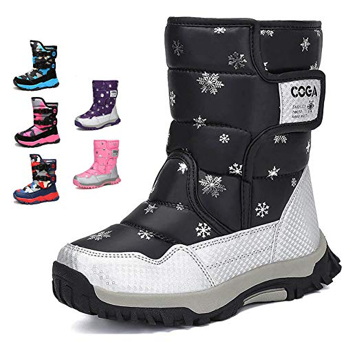 MEAYOU Frosty Insulated Snow Winter Boots Girls Boys Toddler Outdoor Waterproof with Fur Lining New