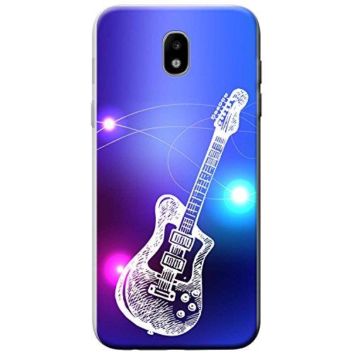 Fancy A Snuggle Lineart Elektrische Rockgitarre Hartschalenhülle Telefonhülle Zum Aufstecken für Samsung Galaxy J5 (2017) (J530) (C Santa Telefon)