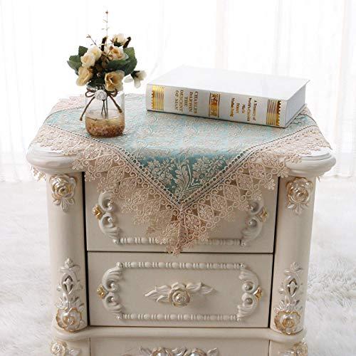 YuHengJin Table de Chevet Micro-Onde pour Couverture de réfrigérateur, Chiffon à poussière, Tissu Dentelle Machine à Laver Chiffon-Blue_125 * 125Cm