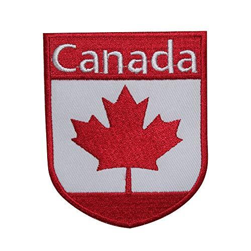 Parche bordado bandera Canadá coser planchar, ropa