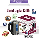 DUVERRA BPA-Free Stainless Steel Electric Kettle with Temperature Control from 40 to 100